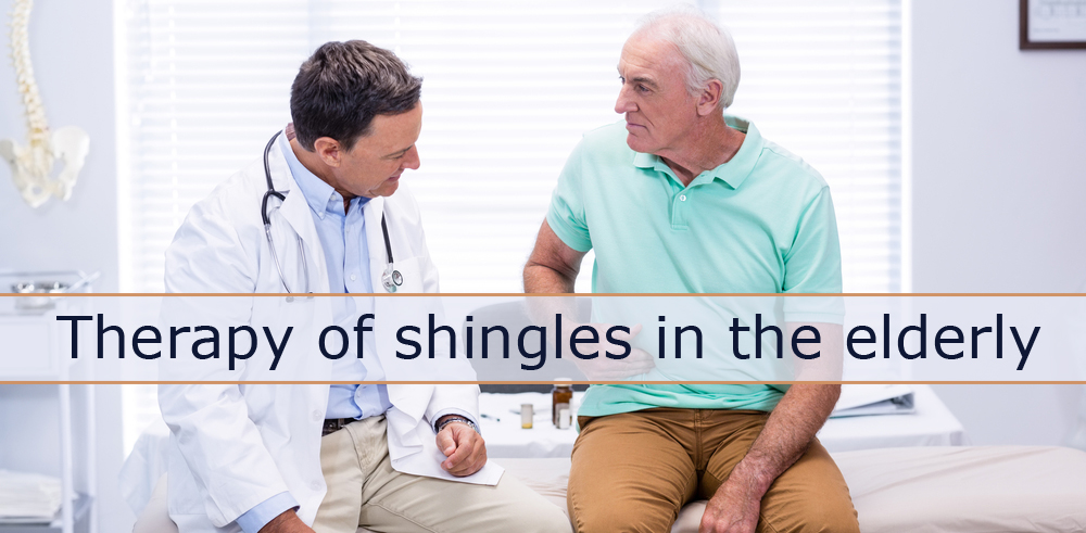 Therapy of shingles in the elderly